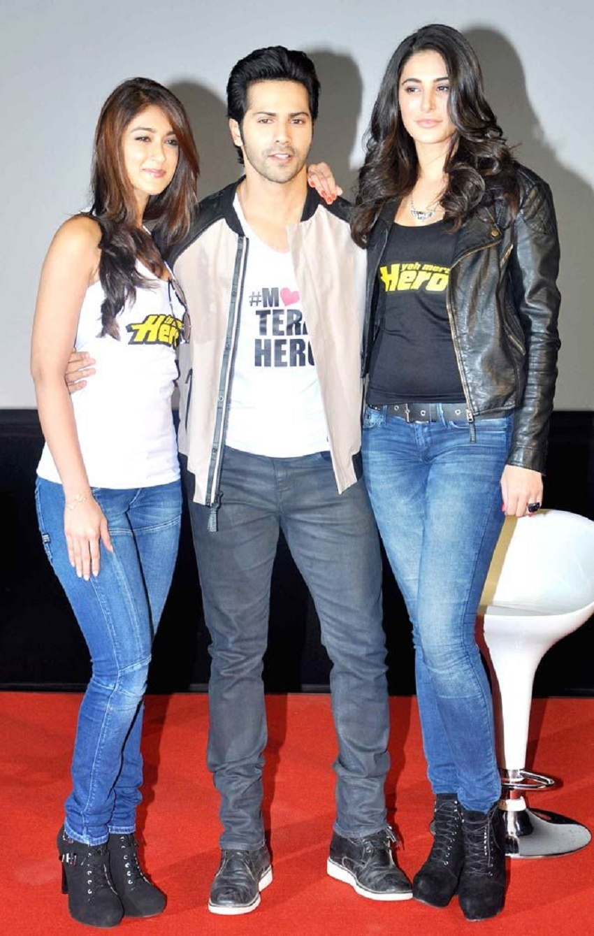 Ileana D'Cruz, Varun Dhawan and Nargis Fakhri