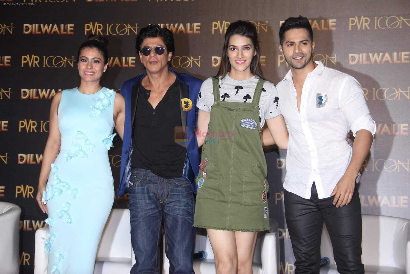 Kajol, Shahrukh Khan, Kriti Sanon, Varun Dhawan